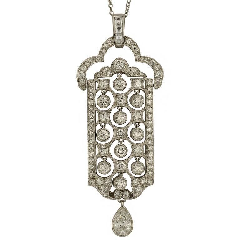 2.23 Carat Tiffany & Co. Platinum Diamond Necklace