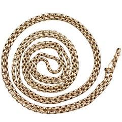 Victorian Yellow Gold Longuard Chain