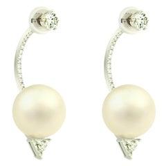 DELFINA DELETTREZ Diamond Pearl 18 Karat Gold Earrings