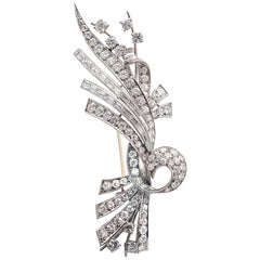 Antique Platinum and Diamond Brooch