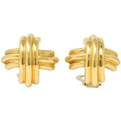 Tiffany & Co. Contemporary 18 Karat Gold X Earrings