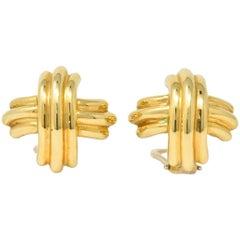 Tiffany & Co. Contemporary 18 Karat Gold X Earrings