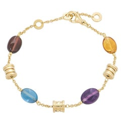 Bulgari Yellow Gold Multi-Gem B.Zero1 Mini Bracelet