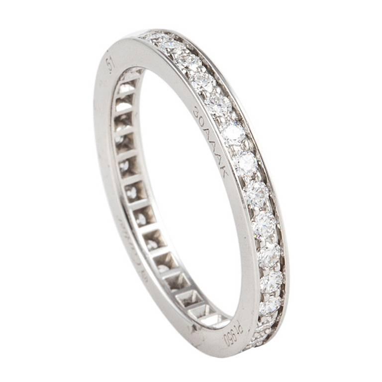 Cartier Platinum Diamond Eternity Band