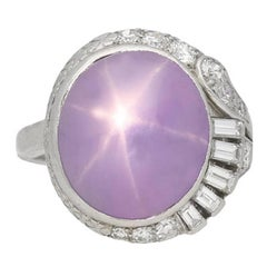 J. Milhening Inc. Star Sapphire and Diamond Ring, Chicago, American, circa 1935