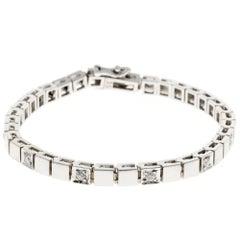 Diamond Gold Hinged Box Link Bracelet