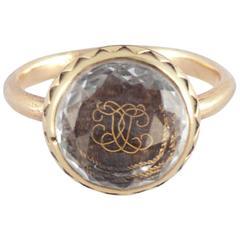 Antique Stuart Crystal Gold Ring