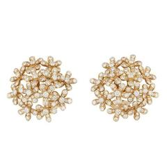 Van Cleef and Arpels Diamond Gold Socrate Earrings