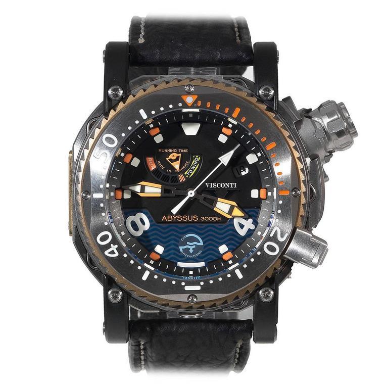 visconti titanium scuba abyssus 3000m automatic wristwatch