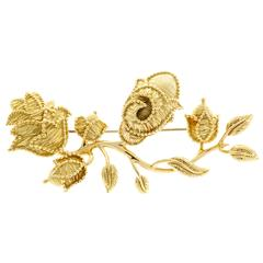 Tiffany & Co. Gold Flower Pin