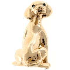 Sapphire Gold Labrador Retriever Dog Pin
