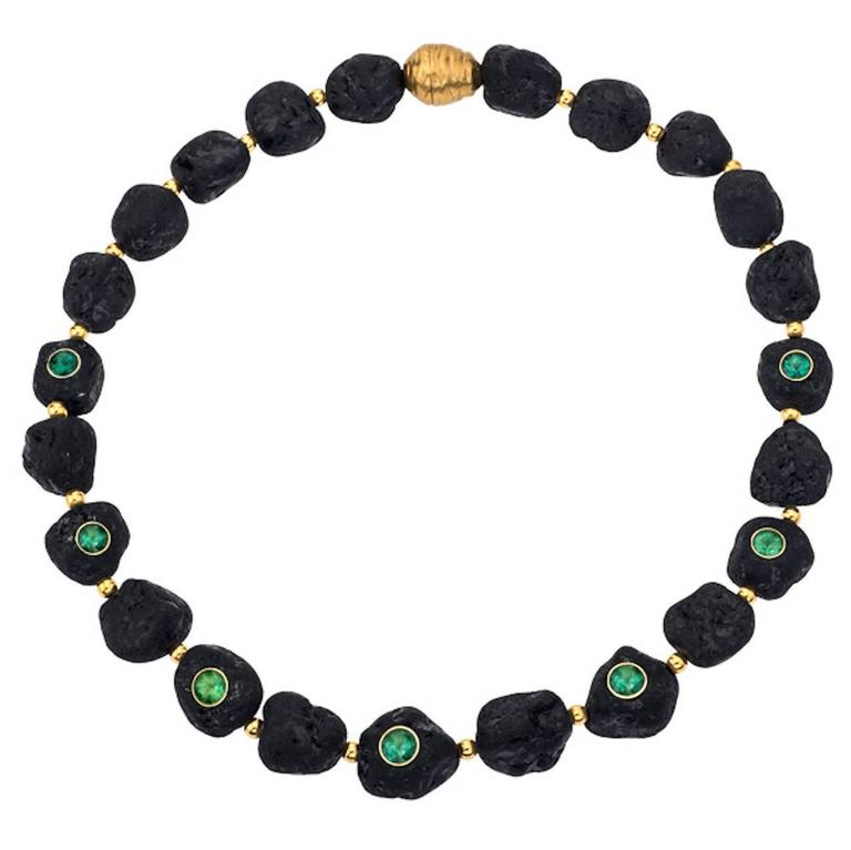 Tourmaline Gold Collier Necklace