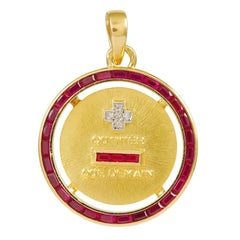 More Than Yesterday Less Than Tomorrow Ruby Gold Charm