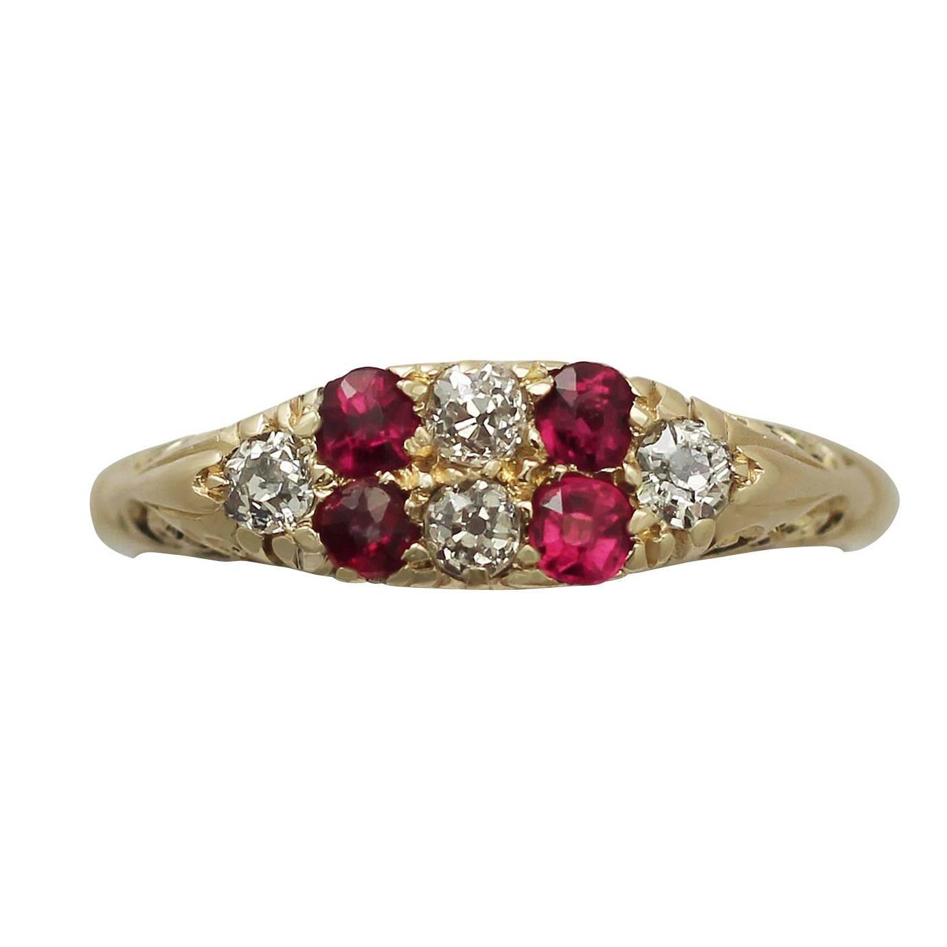 0 16 ct ruby and 0 15 ct 18k yellow gold dress