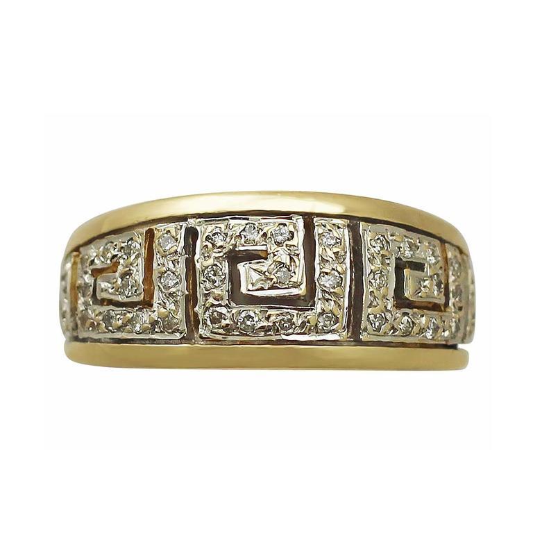 Diamond & Yellow Gold White Gold Set Cocktail Ring
