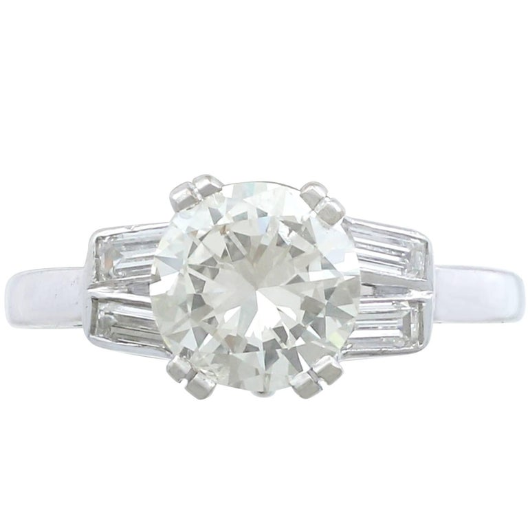 1950s 1.52 Carat Diamond & Platinum Solitaire Ring