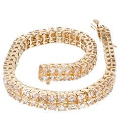 Two Row Brown Diamond Gold Bracelet