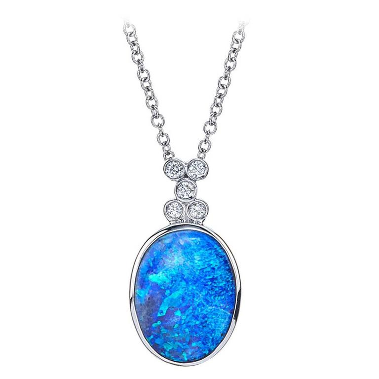 Opal and Diamond Pendant 1