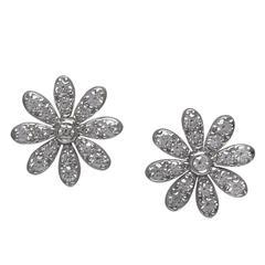 Tiffany & Co. Diamond Gold Daisy Earrings