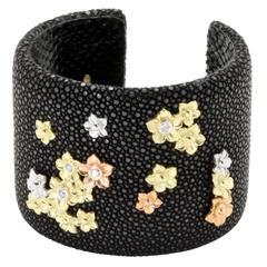 Stambolian Stingray Diamond Gold Cuff Bracelet