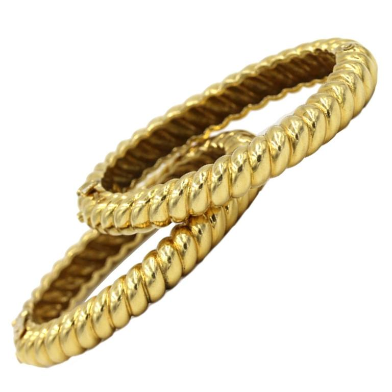 bracelet wire on twisted diamond p gold bar italian yellow bangle product bangles htm