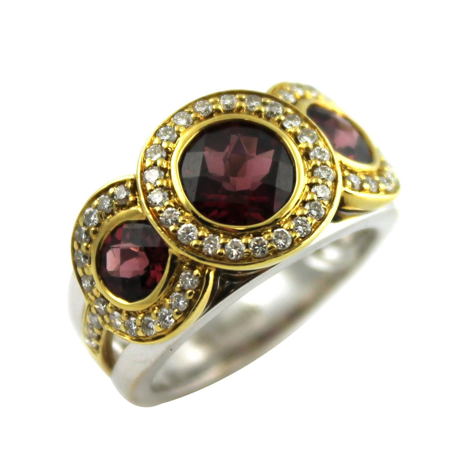 fred and co garnet gold ring at 1stdibs