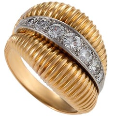 Van Cleef & Arpels 1950's Diamond Gold Platinum Ring