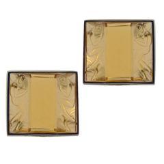 R. Cipullo Art Deco Glass Earclips