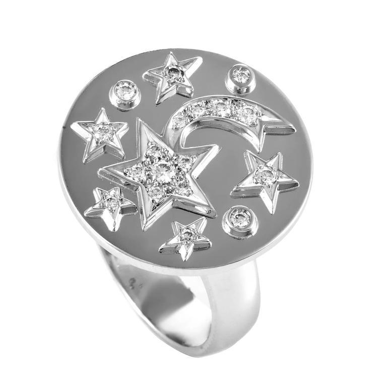 Chanel Comete Diamond Gold Ring For Sale