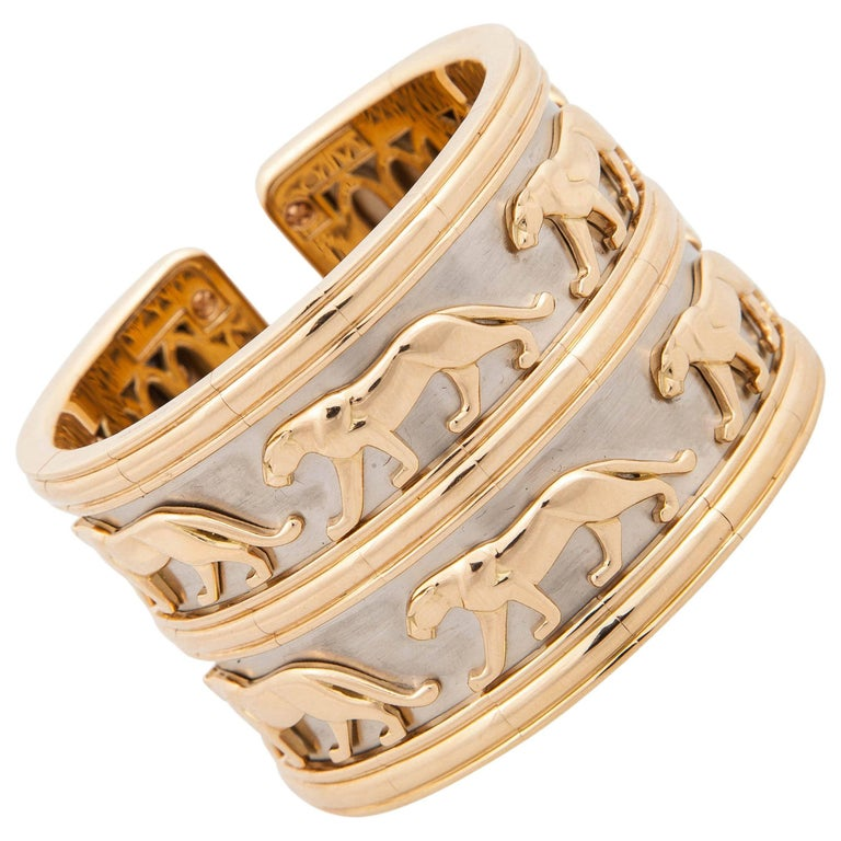 Cartier Panthere Gold Cuff Bracelet