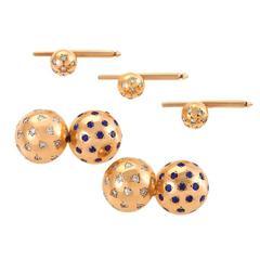 Van Cleef & Arpels Sapphire Diamond Gold Dress Set