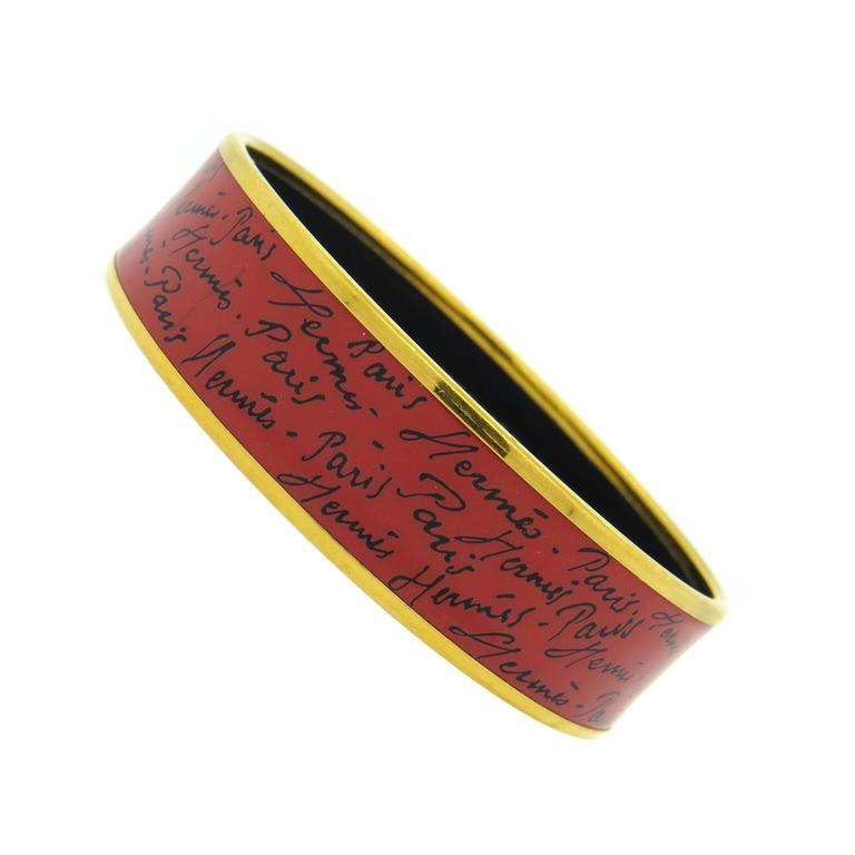 Hermes Paris Enamel Bangle Bracelet  1