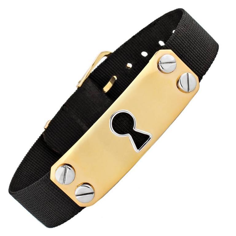 Aldo Cipullo Gold Lock Ribbon Bracelet For Sale