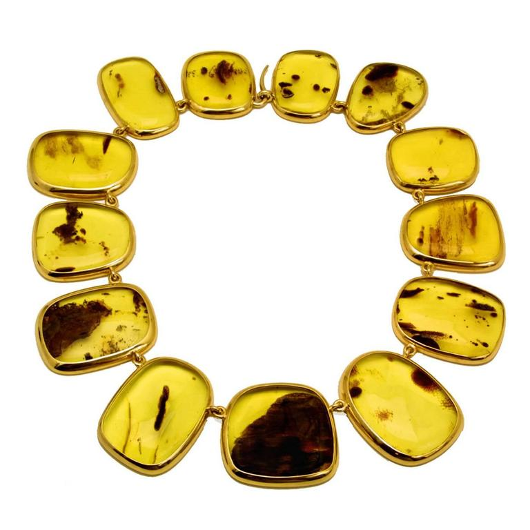Colleen B. Rosenblat Amber Gold Necklace 1