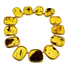 Colleen B. Rosenblat Amber Gold Necklace