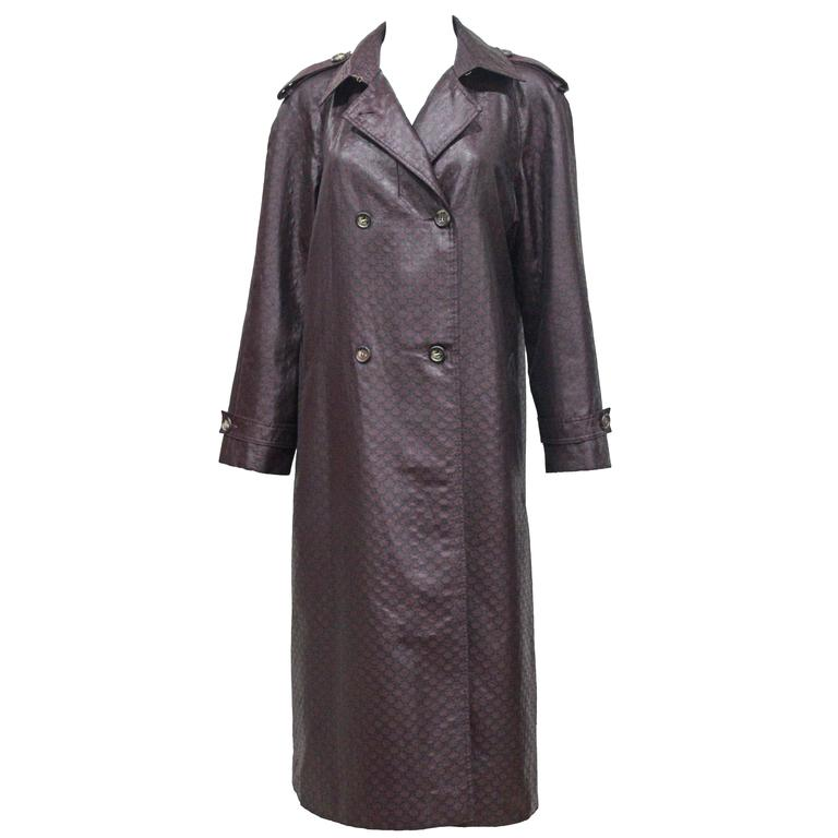 1970s Celine monogram trench coat