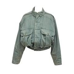1980s Katharine Hamnett London padded bomber jacket