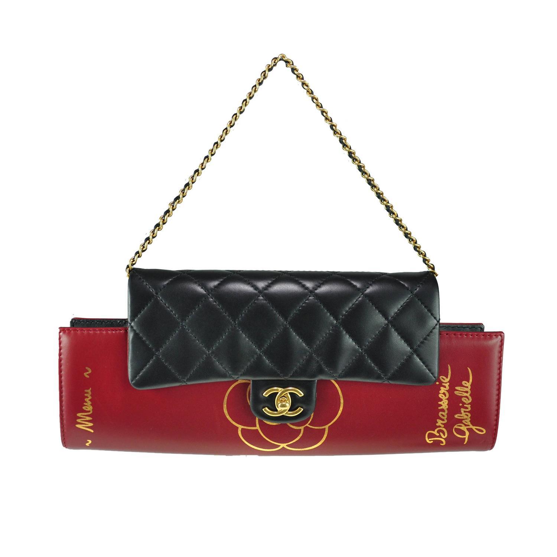 Chanel 2015 Fall/Winter Brasserie Menu Clutch Bag New at ...
