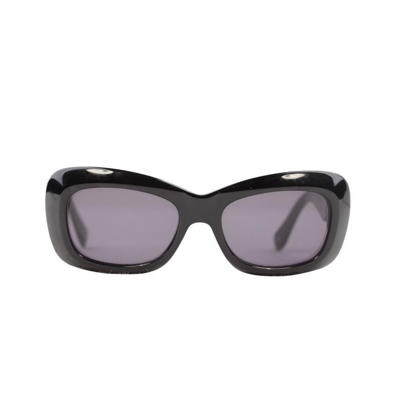 8e5c402e5d GIANNI VERSACE Vintage Black MEDUSA SUNGLASSES Mod 417 Col 852 eyewear w   CASE at 1stdibs