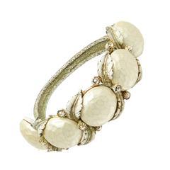 1950s Har Pearlesant Clamper Bracelet