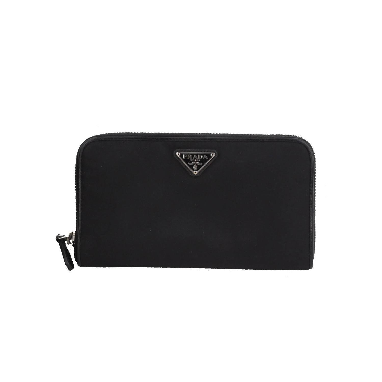 prada saffiano handbag prices - PRADA Black Vela Canvas and Leather LONG ZIP AROUND WALLET Coin ...