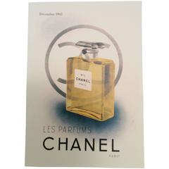 Chanel Perfume Bottle Ad Print - 1940's