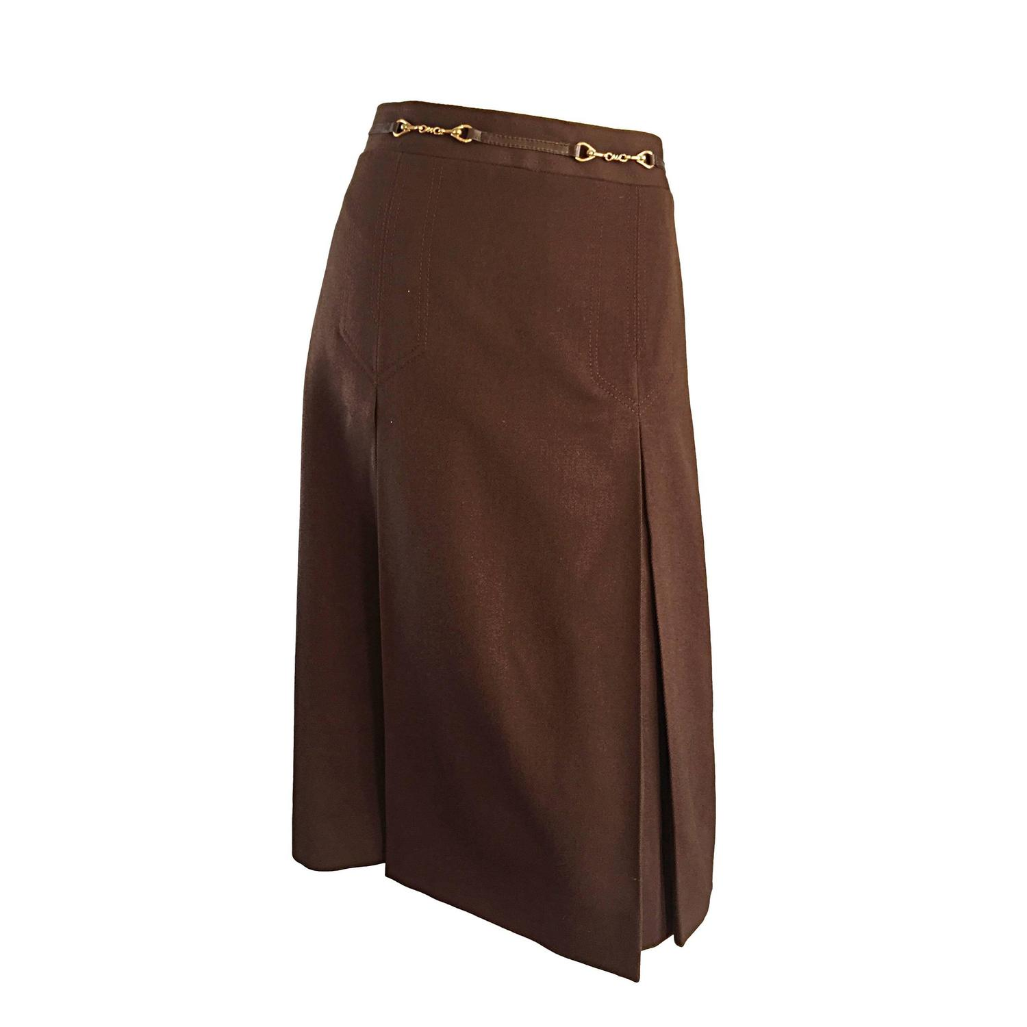 Plus Size Wool Skirt 109