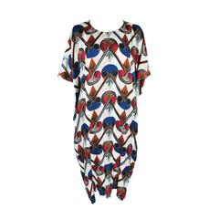 Hermes 2015 Spring-summer Runway African Print Over-sized Silk Dress FR34