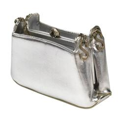 1950s Scaasi for Meyers Metallic Silver Handbag