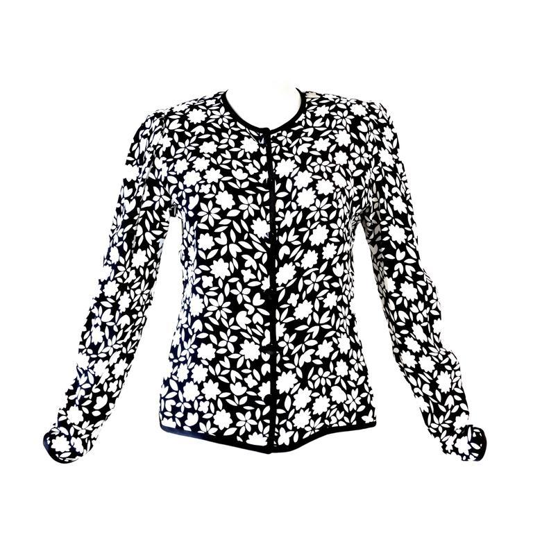 1980s Saint Laurent Floral Jacket