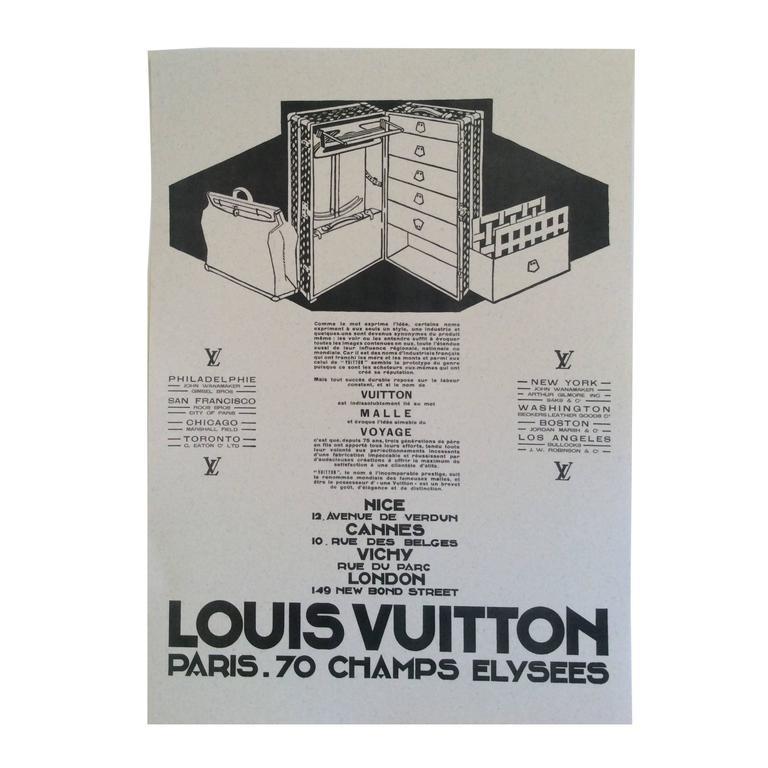 Louis Vuitton Vintage Ad Print - 1930's 1