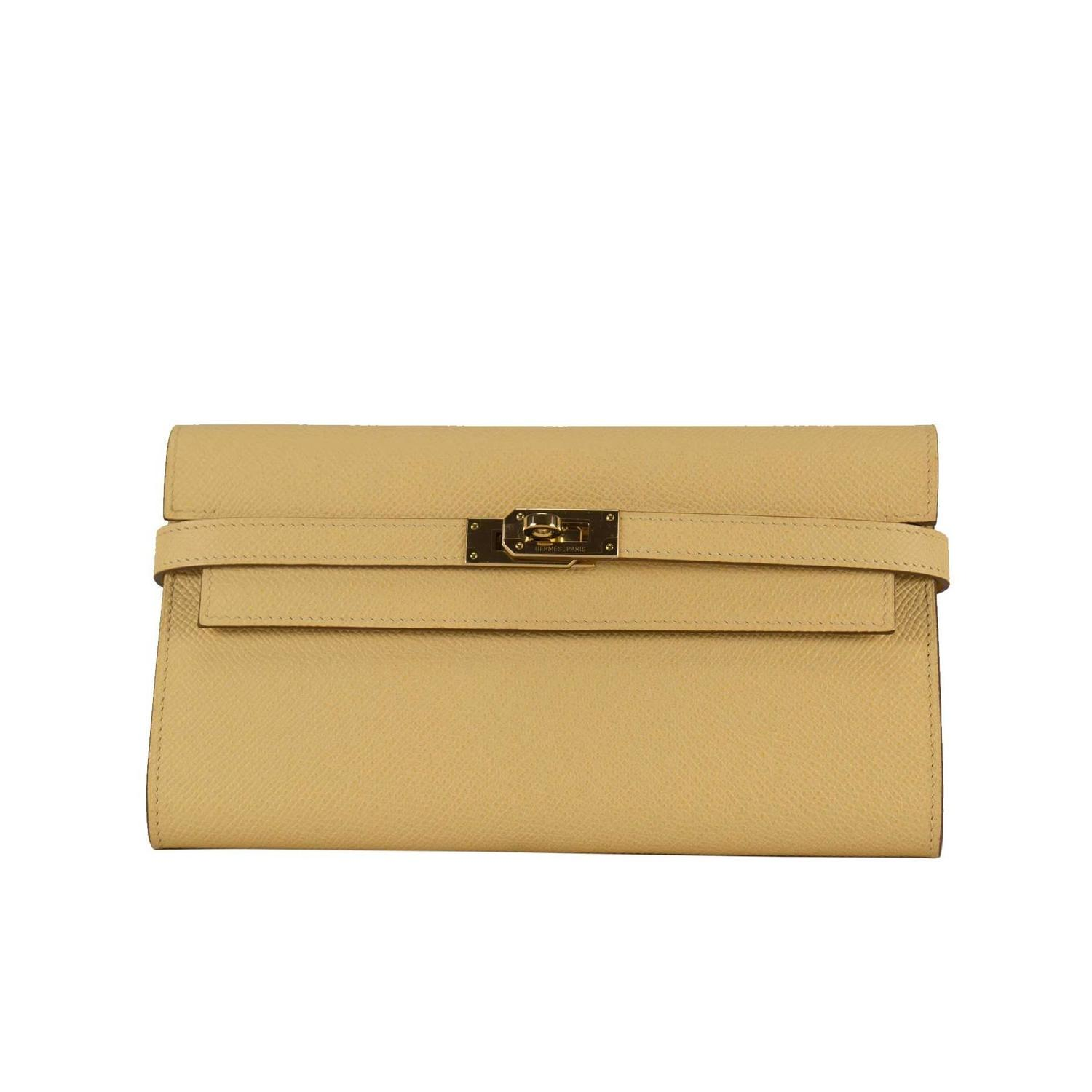 hermes kelly wallet yellow - photo #1