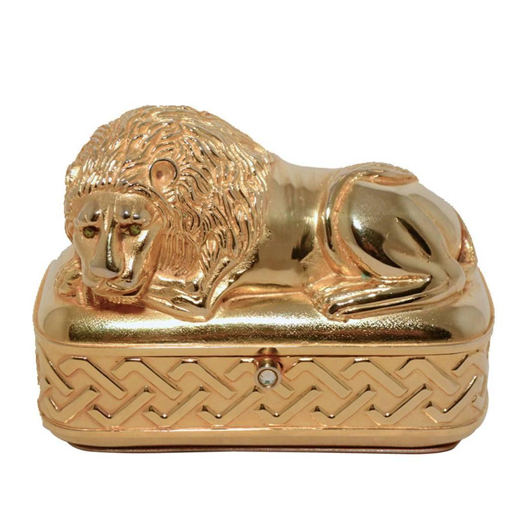 Judith Leiber Vintage Gold Lion Minaudiere At 1stdibs