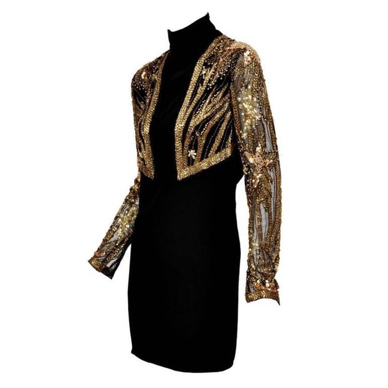 80-s Bob Mackie Beaded Bolero Dress For Sale